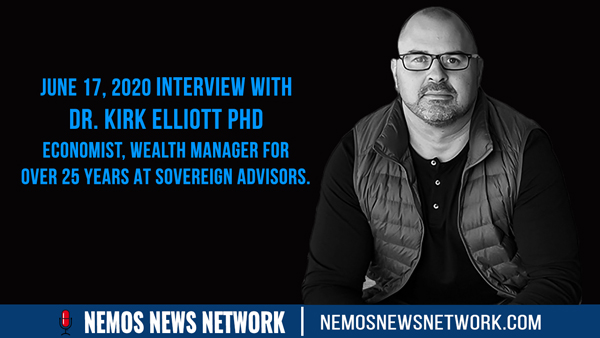 Dr. Kirk Elliott PhD Economist, Wealth Manager for over 25 years at Sovereign Advisors.
