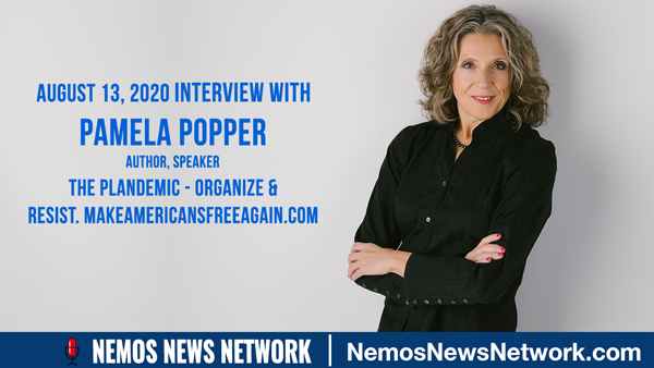 Pamela Popper & Dustin Nemos on The Plandemic - Organize & Resist. MakeAmericansFreeAgain.com
